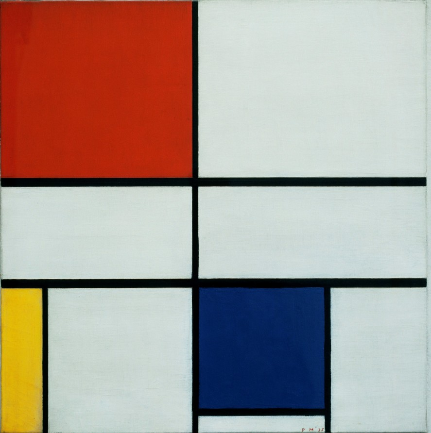 'Composition C (No.III) with Red, Yellow and Blue' – Piet Mondrian, 1935